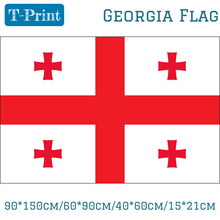 Free shipping 90*150cm/60*90cm/40*60cm/15*21cm 3x5ft Georgia National Flag