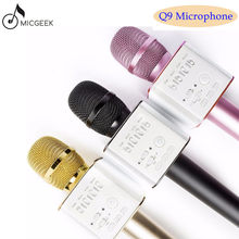 Original marke MicGeek Q9 Bluetooth Karaoke Mikrofon Drahtlose Professionelle Player lautsprecher Mit Carring Fall Für Iphone Android(China)