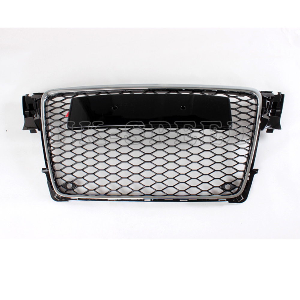 2009-2012 A4 B8 RS4 styling ABS car front grille for Audi,auto grill grille for A4 B8 double slides commercial inflatable bouncer bounce house