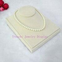 2015 Hot Newest Jewelry Display Necklace Pendants Beige Model Necklace Holder Beige Velvet Jewelry Show