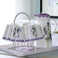 9 шт./компл., костяного фарфора кофе чайник с чашки, чайник, керамическая чашка для эспрессо кофе кувшин для воды, залить, свадебные сувениры и подарки