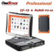 Autek PCI A6 EPB de Programación de la Llave de Actualización En Línea Inglés/Español OBD2 Lector de Código Profesional de Herramientas de Automoción + Toughbook CF-19
