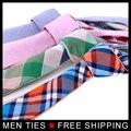 Nuevo Diseño de Doble capa de Los Hombres lazo de La Moda corbatas Corbata con 2 colores 5 cm amplia cuadrícula corbata Formal de Los Hombres de alta calidad 20 estilos