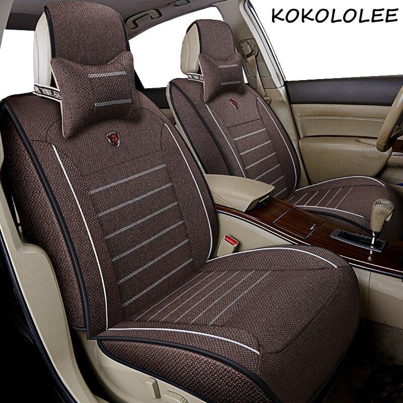 Kokololee универсальные льняные автомобильные чехлы для сидений для Jeep все модели Jeep Grand Cherokee и Renegade compass Commander Cherokee автомобильные аксессуары - 2