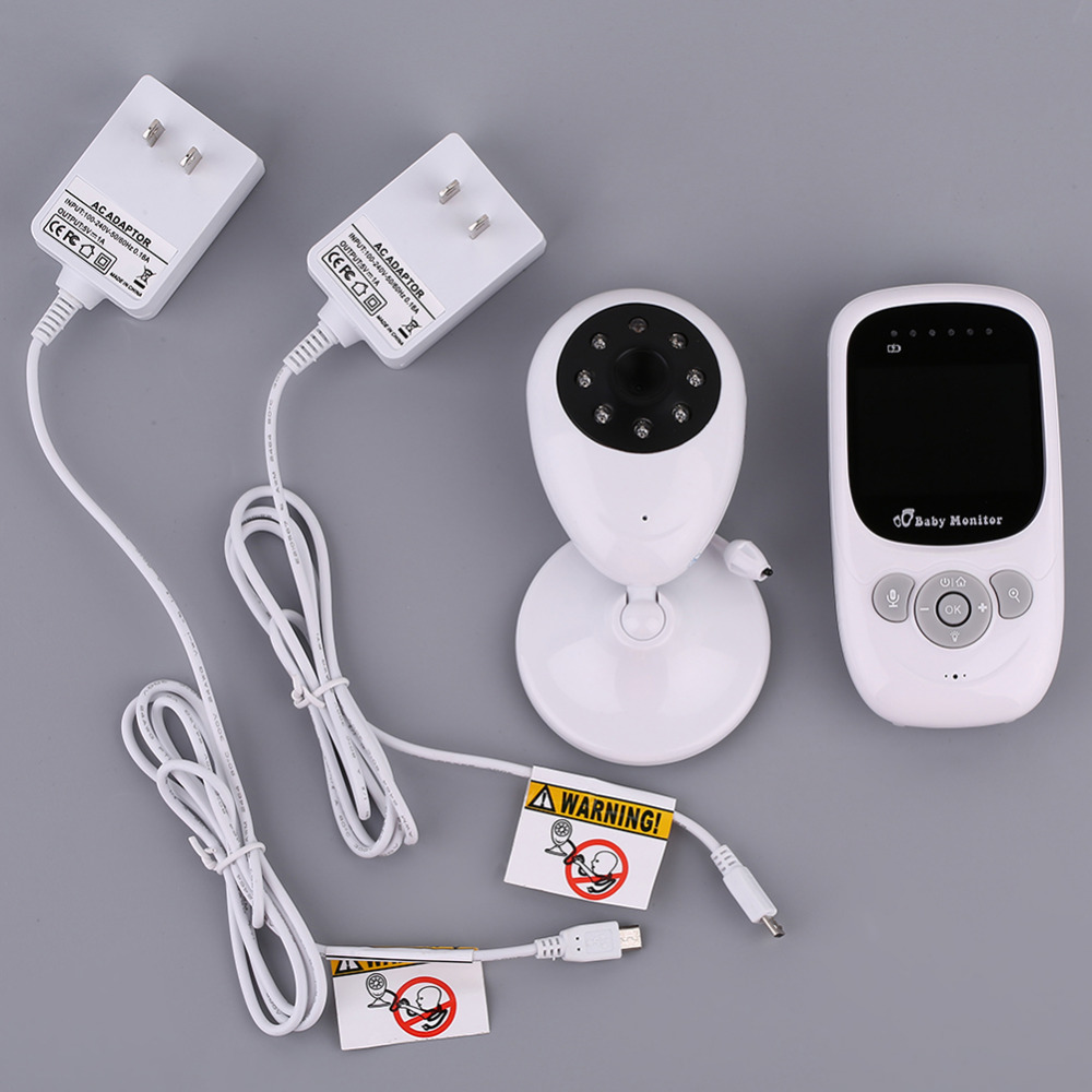 2.4 Inch LCD Wireless Baby Video Monitor with Night Vision & Temperature Sensor