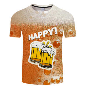 Beer T-Shirt Black Yellow Women 3d Camiseta Tee Funny Hip-Hop Asian-Size Hombre S-6xl