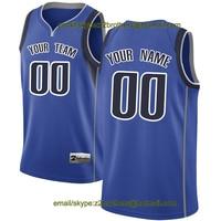 China OEM Factory Custom Basketball Jerseys Dallas Royal White Design Creative DIY Your Own College Team Shirt Men Women Youth