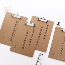 31*22cm Cowhide Color A4 File Splint Writing pad portfolio Board Bill Archives Data Handout Mix Paper Capa-citor Write Plate