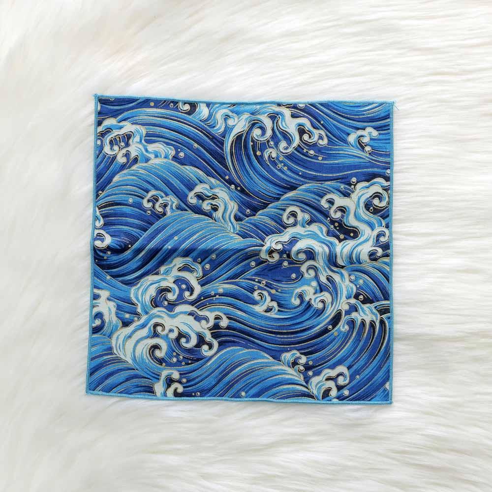 1 Pcs Japanese Style Hand - Made Fabric Cotton Handkerchief Towel Satin Butterfly Waves Cherry Blossom Carp Pocket Handkerchief