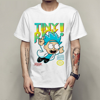 Cute Cartoon Rick And Morty T Shirt Let Me Out Tiny Rick TShirt Men Boy Summer