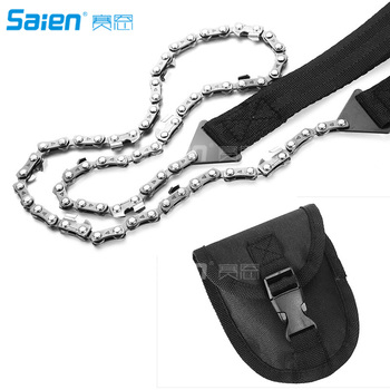 Survival Pocket Chain Saw Chainsaw 24 Inches Portable Hand Saw For Camping Hiking Backpacking Hunting Boy-scouts Emergency Gear 2