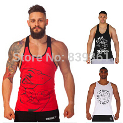 96d9d70adc329f Gym Shark Titan Stringer Gymshark Tank Tops Mens Y Back Deep Cut  Bodybuilding and Fitness Singlet