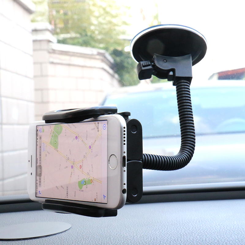 car phone suction cup bracket car air outlet phone stand multi-function car phone holder bracket 360 Degree Flexible Rotate