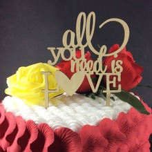 SD-484 Free Shipping All you need is LOVE Cake Toppers for Lover's Wedding Personalized Party Favors