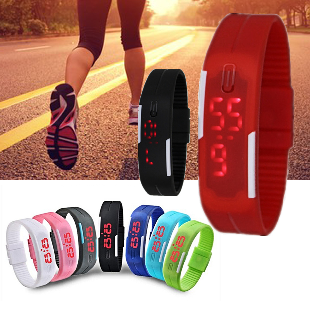Men's Sports Children Watch Ultra Thin Women Silicone Digital LED Wrist Watches Girls Boys Baby Clock Reloj Hombre Reloj Mujer