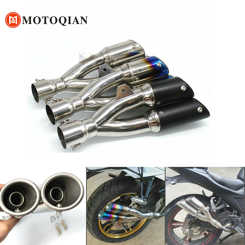 Fit For benelli trk502 model Motorcycle Exhaust Pipe muffler Escape moto 51mm Exhaust two brothers exhaust Motorbike gps tracker
