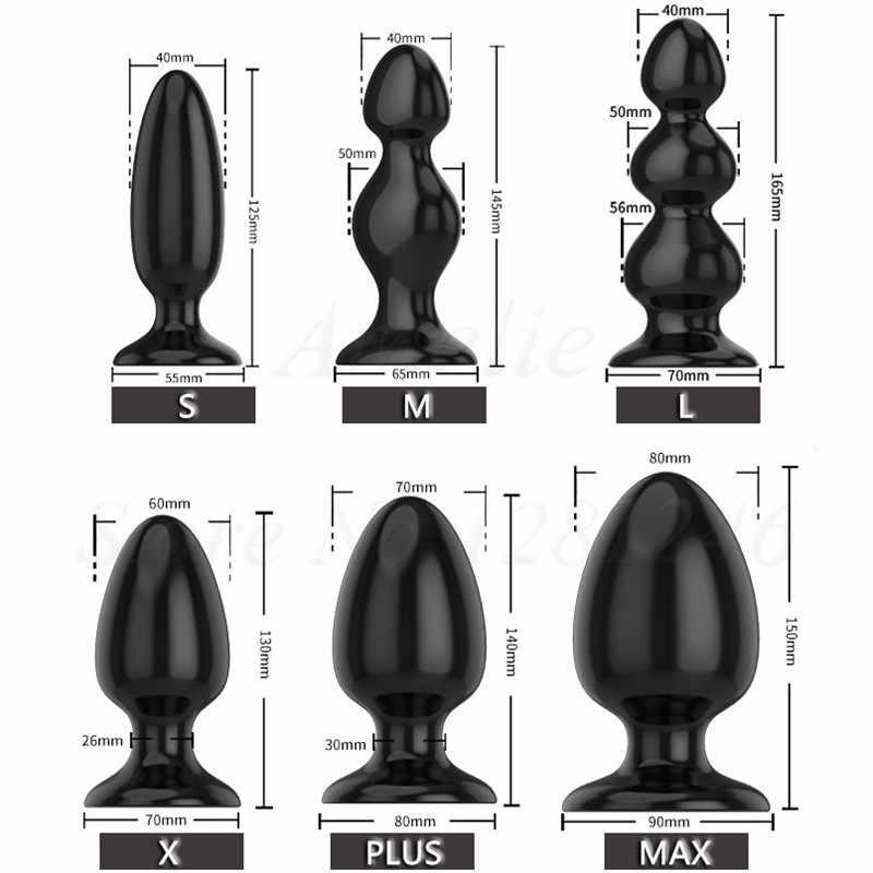 Besar Anal Mainan Seks Besar Butt Plug Dilatador Prostata Pijat untuk Pria Wanita Gay Dewasa Anus Ekspansi Stimulator Besar Anal manik-manik