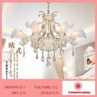 6 Heads K9 Crystal Chandelier Lights Crystal Lights For Living Room Bedroom European Style Unique Design