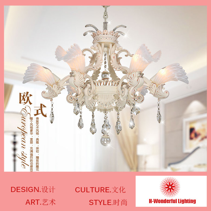 Chandelier 6/8 Lights  Modern Crystal Chandeliers Indoor Lighting Bedroom Crystal Light Living Dining Room Lamp Resin&Art Iron wrought iron chandelier island country vintage style chandeliers flush mount painting lighting fixture lamp empress chandeliers