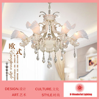 6 Heads K9 Crystal Chandelier Lights Crystal Lights For Living Room Bedroom European Style Unique Design