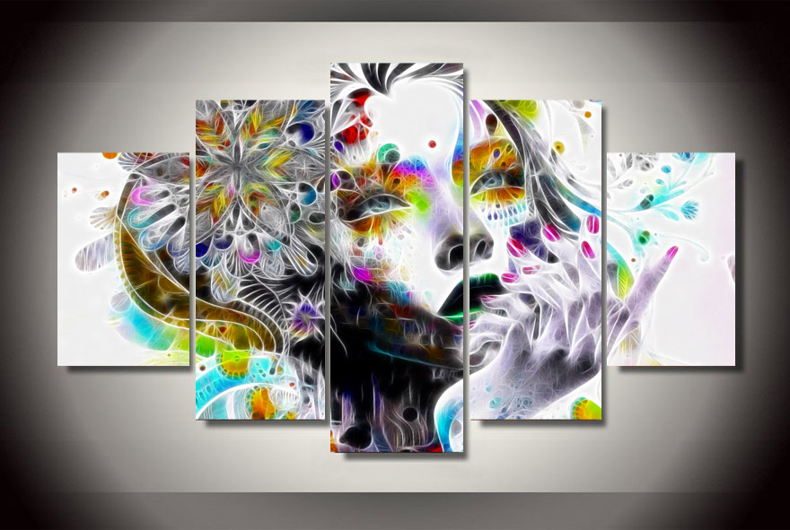 Framed Printed psychedelic woman Painting children's room decor print poster picture canvas Free shipping/xx-2729