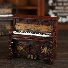 Kinder Klavier Spardosen Vintage Harz Tastatur Wohnkultur Cofre Box Retro Geburtstagsfeier-geschenke Musikinstrument Sparschwein