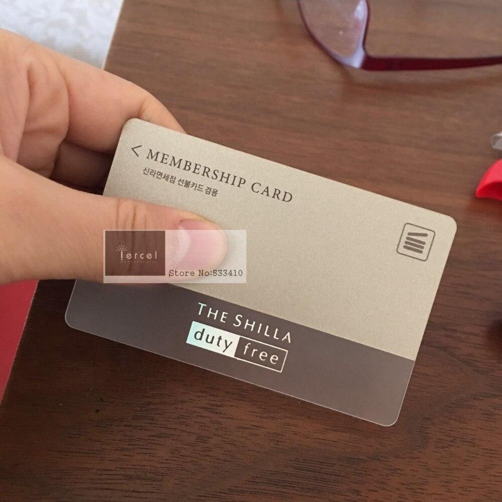 popular pvc business card transparent cheap pvc business card