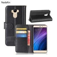 For Redmi 4 Prime Retro Magnetic Wallet Genuine Leather Case For Xiaomi Redmi 4 Prime Flip