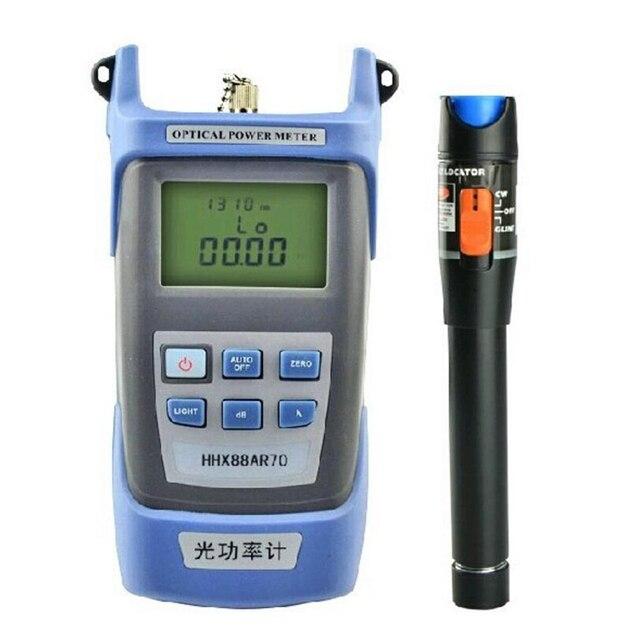 2 In 1 FTTH Fiber optik alet kiti ile optik güç ölçer ve 10MW görsel hata bulucu kullanımı Ftth Fiber optik test kalemi