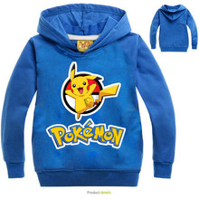 boys hoodies pokemon go team children t shirts hooded baby girls sweatshirt pikachu hoodie for kids clothes moleton infantil