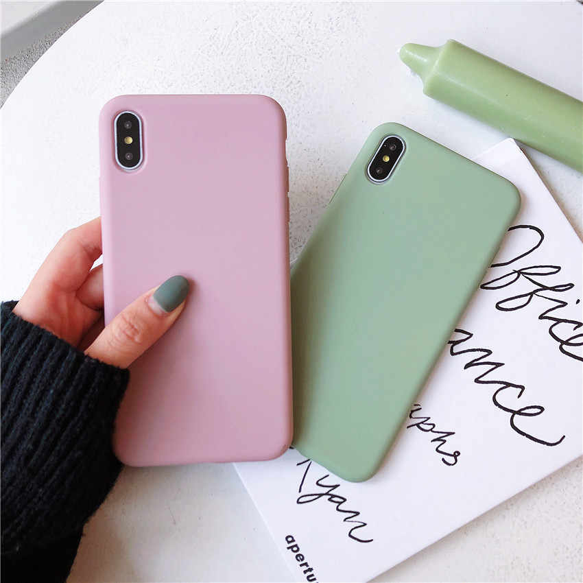 Funda de teléfono Color caramelo para Huawei Mate 20 P30 pro Mate 10 20 P10 P20 Pro Nova 3 2s Honor 9 10 8X Y7 funda trasera suave
