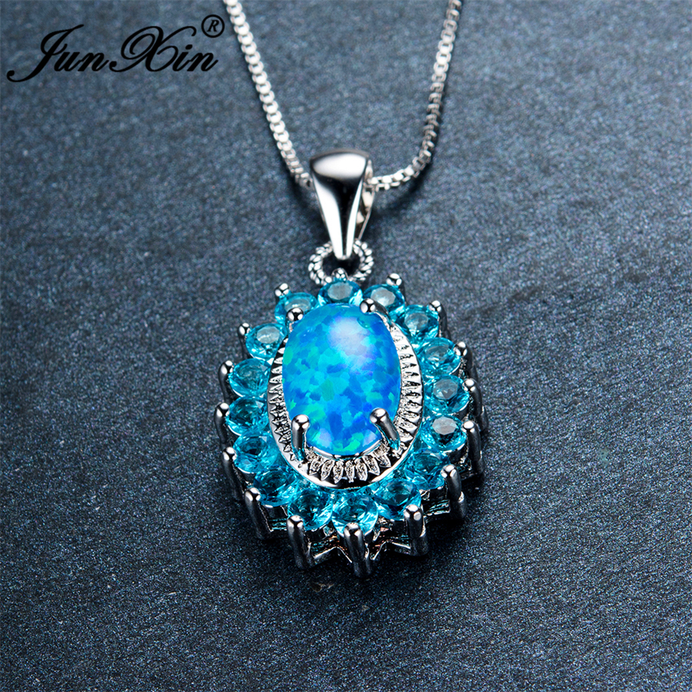 letter blue opal necklaceoctober initial birthstone silver necklaceopal il pendant jewelry necklaceblu necklace product fullxfull lbwy