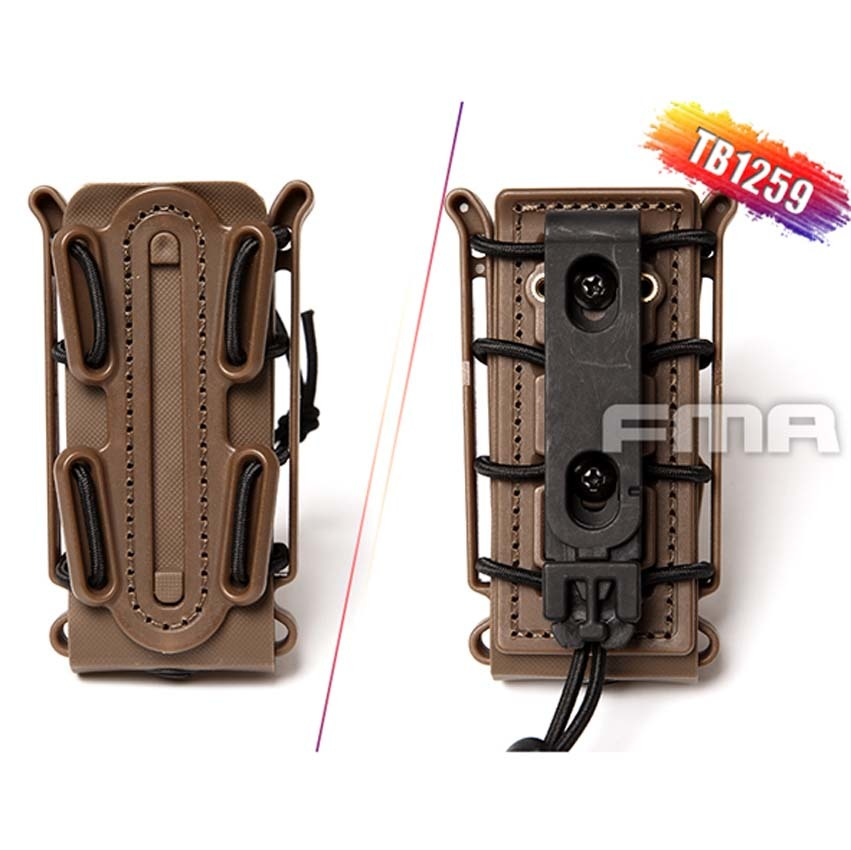 New FMA 2019 Outdoor Tactical Soft Shell Scorpion Mag Magazine Pouch Carrier for 9mm TB1259 BK/DE/FG
