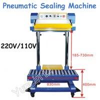 220V/110V Pneumatic Sealing Machine Plastic Bags Sealing Machine Fertilizer Bag Machine Food Machine Holding Bag QF 600L