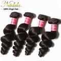 3 шт. много перуанский свободная волна девственные перуанские пучки волосков, Необработанные свободная волна девственница волос, 16 - 26 дюймов человеческих волос ткать пучки