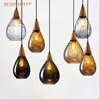Europa criativo moderno pingente de vidro luz led e27 com 3 cores para o quarto/restaurante/sala estar/cozinha/café/hotel/escritório|Luzes de pendentes| |  -