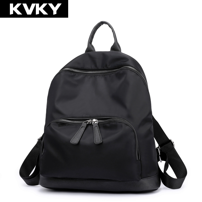 KVKY Nylon Women Backpack for Teenage Girl Backpack Waterproof Casual Rucksack Female Student School Shoulder Bag Travel Mochila 2018 student backpack school bags for teenage girls mochila backpack waterproof rucksack student bag travel backpacks new
