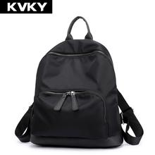 KVKY Nylon Women Backpack for Teenage Girl Backpack Waterproof Casual Rucksack Female Student School Shoulder Bag Travel Mochila