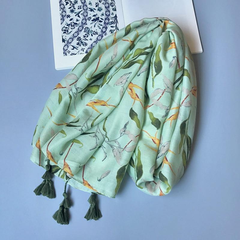 Shami e gjelbër pambuku e grave IANUS lë model të madh - Aksesorë veshjesh - Foto 3