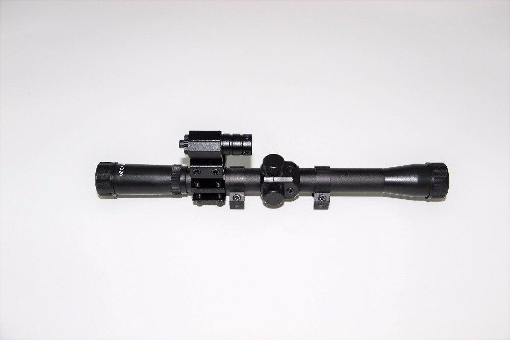 4x20 lingkup riflescope berburu air gun optik teleskop merah laser