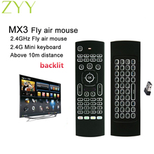 MX3 Backlight Fly Air Mouse Remote Control Wireless Mini Keyboard 2.4Ghz For PC Android TV Box Motion Sensing Gamer Controller