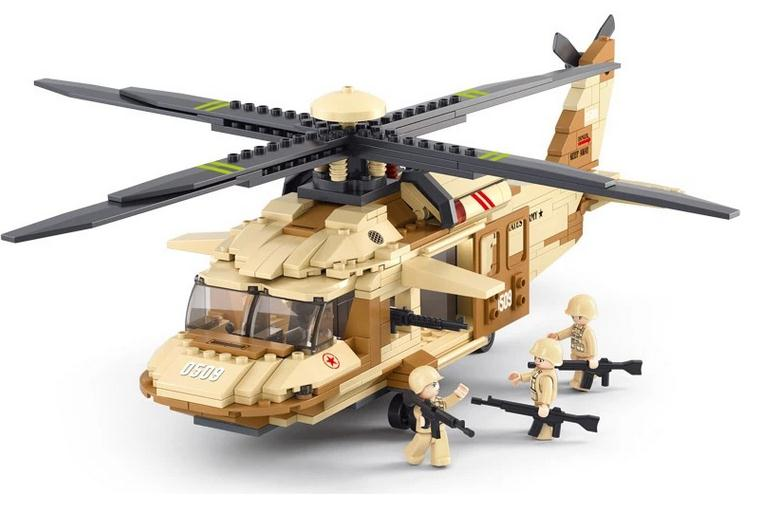 Military air force helicopter UH 60 Black Hawk Building Blocks playmobil Educational Assembling Toys best