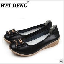 The new foreign trade women flat shoes Soft bottom shoes genuine leather shoes comfortable leisure shoes