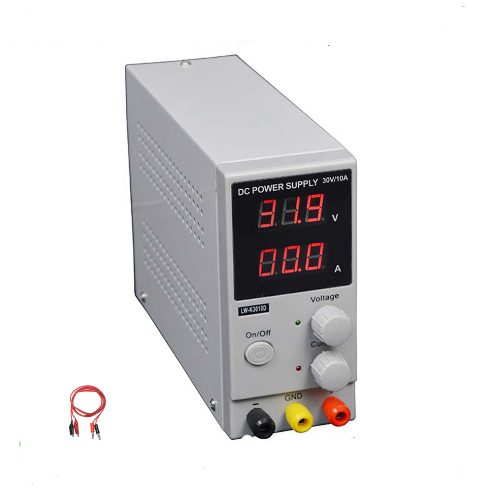 LW 3010D DC Power Supply Adjustable Digital Lithium Battery Charging 30V 10A Switch Laboratory Power Supply