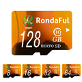 Rondaful Полную Мощность 128 ГБ Карты Памяти 8 ГБ карта micro sd 64 ГБ TF карта 32 ГБ 16 ГБ Class10 Microsd Карты Высокая Скорость для MP3 телефоны