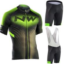 NW NORTHWAVE Летняя мужская велосипедная майка с коротким рукавом, набор дышащих шорт, одежда для велосипеда, гелевая подкладка, одежда