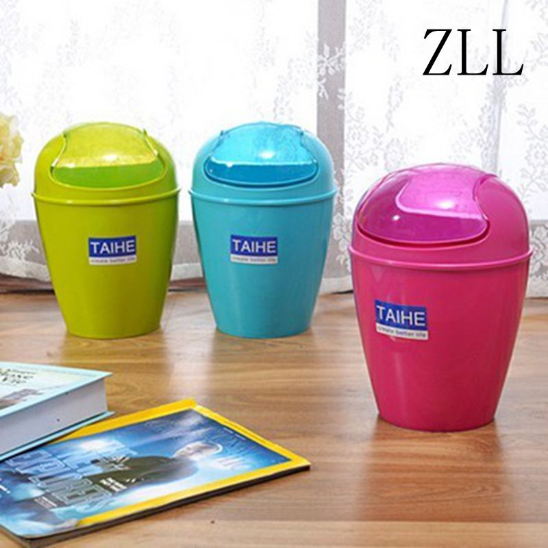 Newly design fashion fresh colorful solid desktop storage for Household waste design