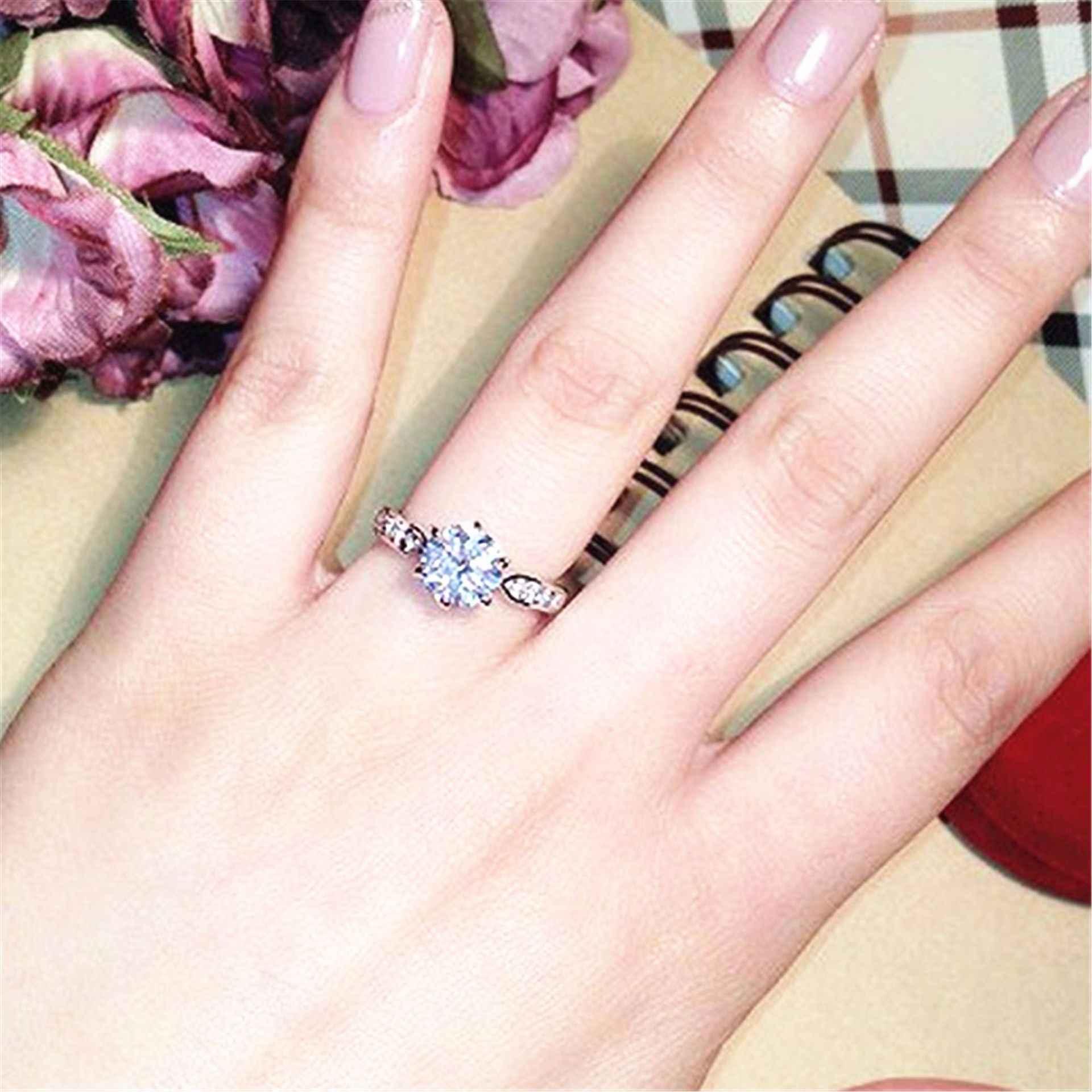 1 pièces vendre Zircon bagues de fiançailles pour les femmes couleur or Rose anneaux de mariage femme Anel cristaux autrichiens bijoux de qualité supérieure