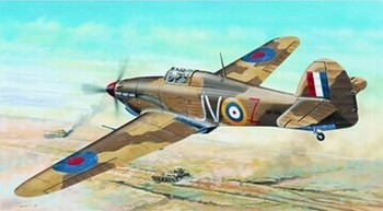 Assembly model Trumpet model 1/24 British hurricane Mk. II D/Trop tropical type aircraft Toys image