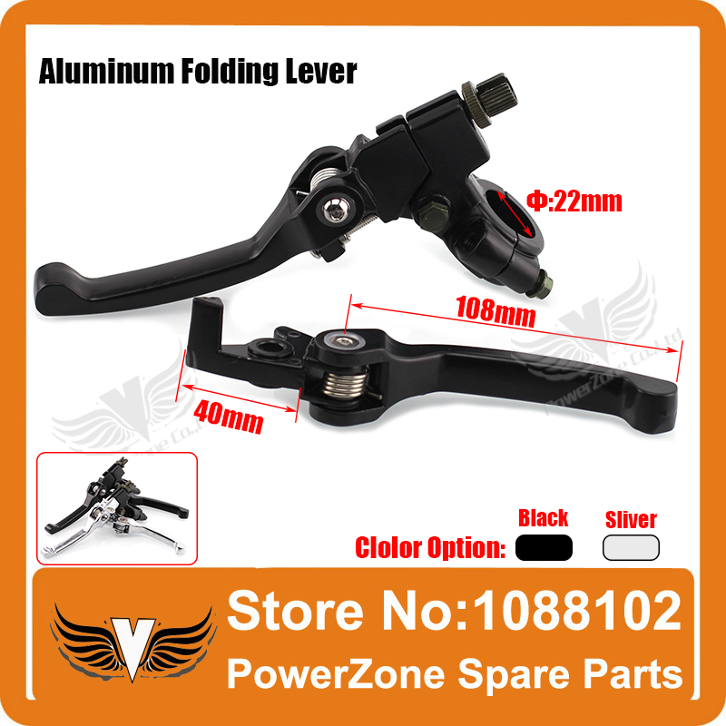 Aluminum Alloy Folding Clutch lever Brake Lever Fit To CRF KLX Pit Pro Xmotos KAYO Pit Dirt Bike Parts Free Shipping!